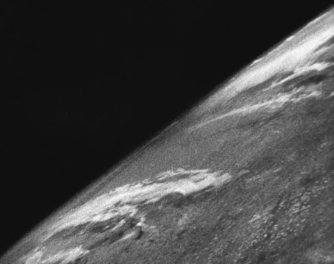 La primera fotografía de la Tierra que se tomó desde el espacio