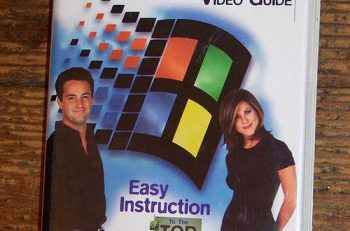 Jennifer Aniston y Matthew Perry promocionando Windows 95