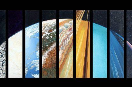 Todos los planetas del Sistema Solar combinados en uno solo