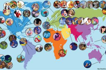 Mapa con todas las películas de Disney