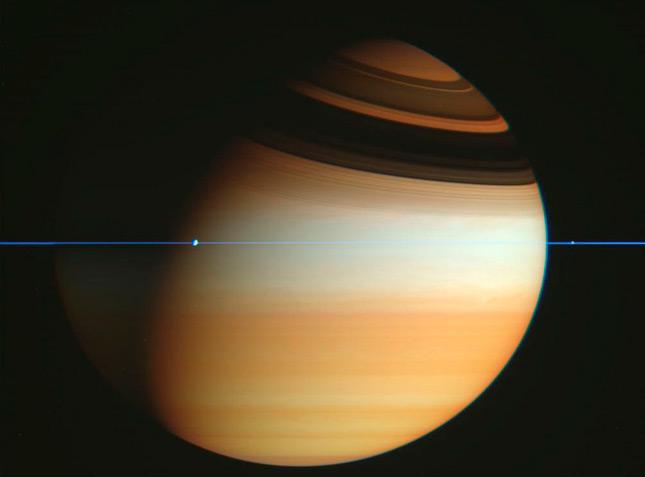 Espectacular imagen de Saturno sin sus anillos