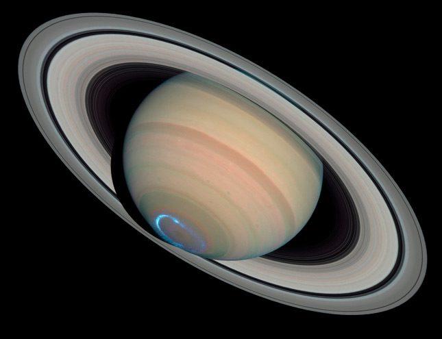 Auroras polares en Saturno
