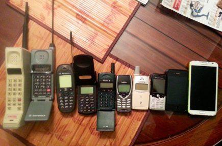 30 años de teléfonos móviles resumidos en una fotografía