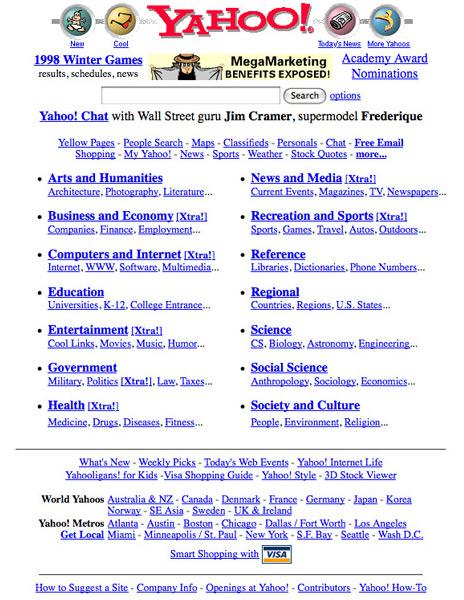 Yahoo en 1998