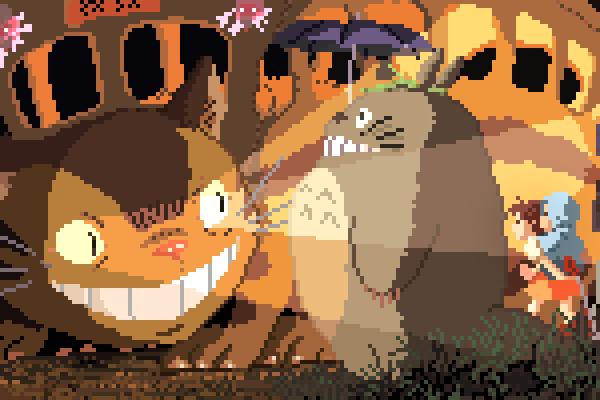 Homenaje pixelado al Studio Ghibli