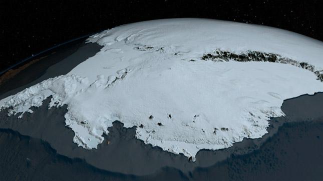 Aspecto de la Antártida