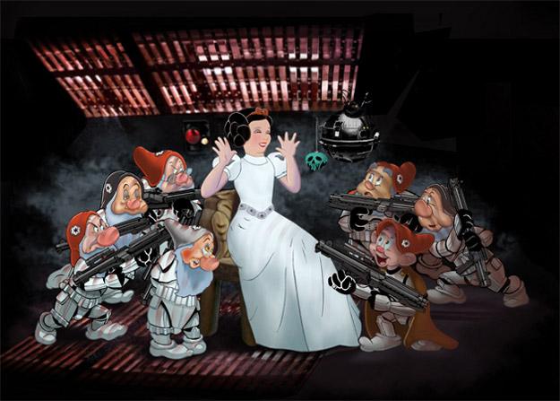 Blancanieves y los Siete Enanitos en versión Star Wars