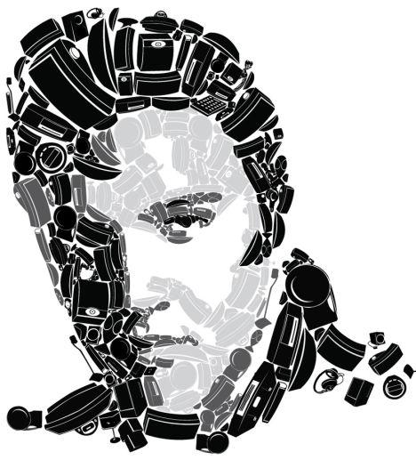 Rostro de Elvis Presley recreado con los equipos de sonido de Bose
