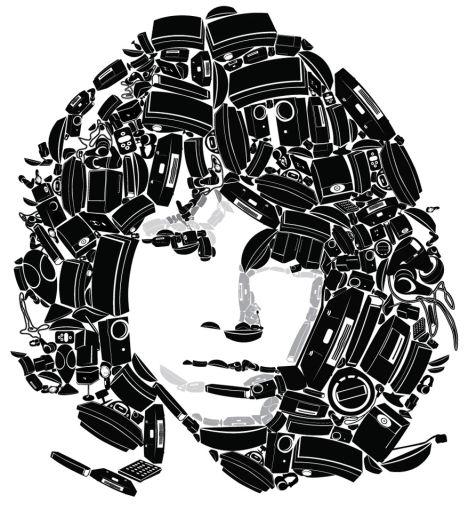 Rostro de Jim Morrison recreado con los equipos de sonido de Bose