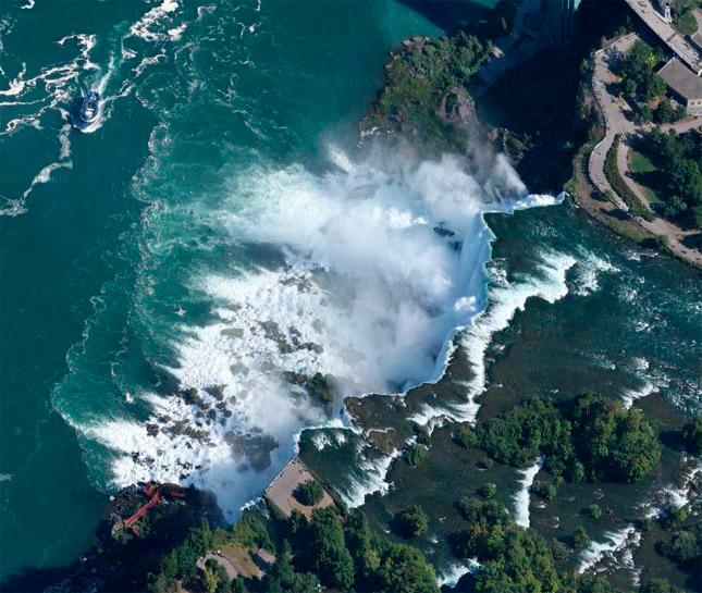 Las Cataratas del Niágara vistas desde los aires