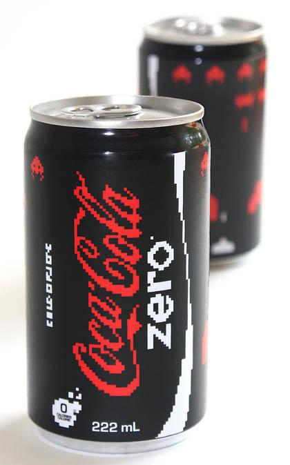 Latas de Coca-Cola inspiradas en Space Invaders