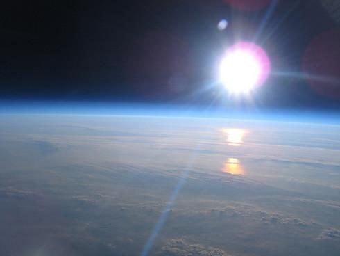 Fotografías propias de la NASA tomadas desde un pequeño globo de helio