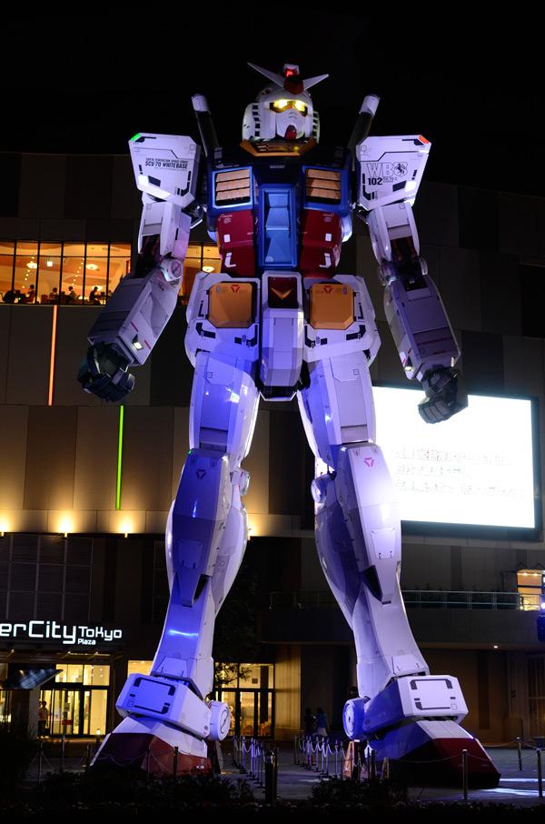 Gundam instalado en Tokio