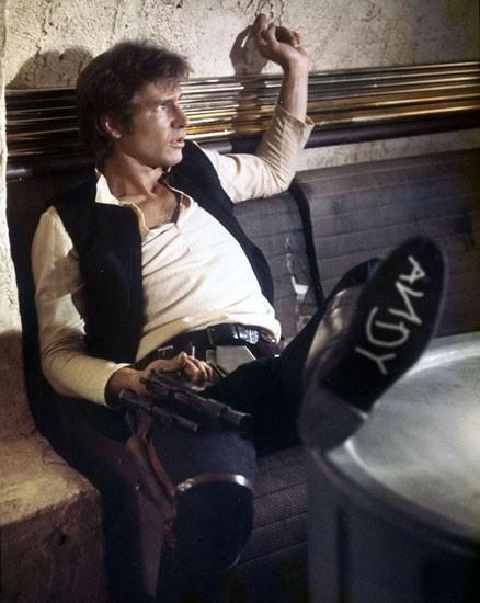 Han Solo con la marca de Andy en el zapato