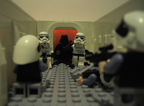 Escena de Star Wars recreada con LEGO