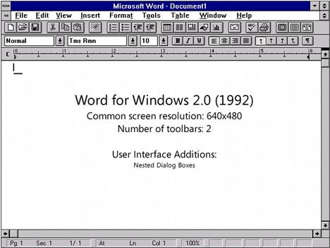 Microsoft Word 2.0