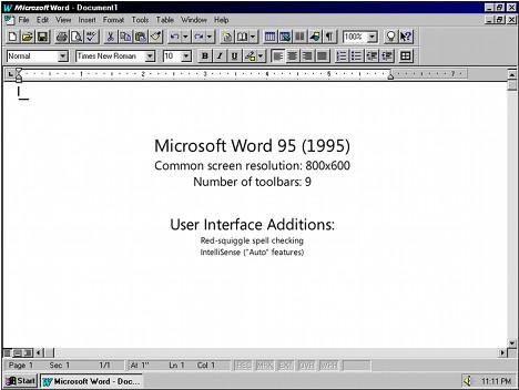 Microsoft Word 95