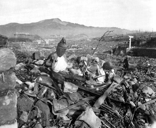 Nagasaki tras la explosión de la bomba atómica