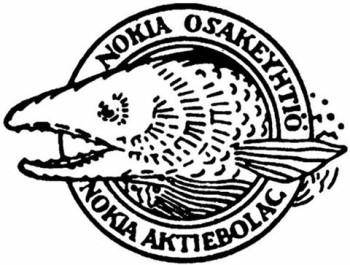 El primer logo de Nokia