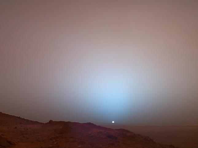Puesta de Sol en Marte