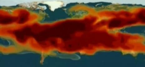 Aerosoles que liberaría a la atmósfera un Supervolcán