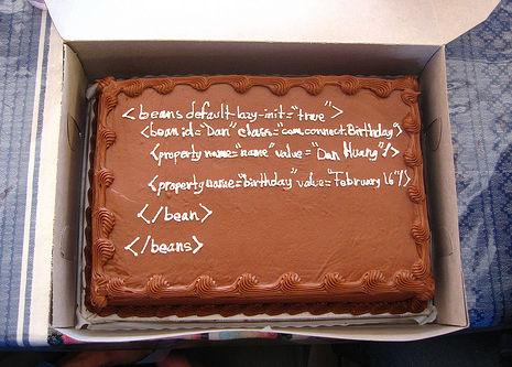 Tarta de cumpleaños para geeks