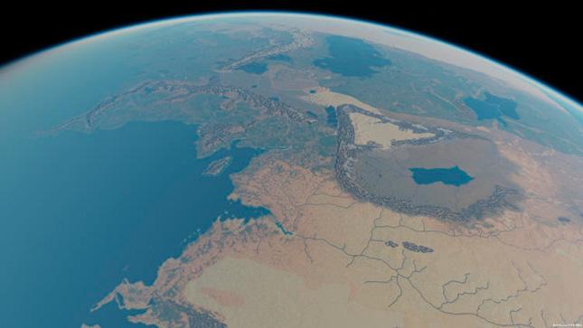 La Tierra Media vista desde el espacio