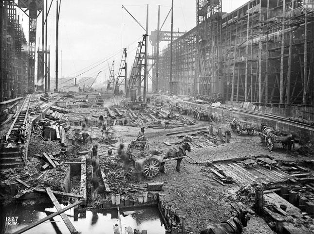 Fotograf as hist ricas de la construcci n del titanic - Construccion del titanic ...