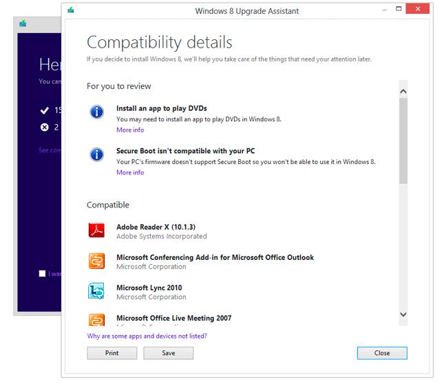 Asistente de actualización a Windows 8