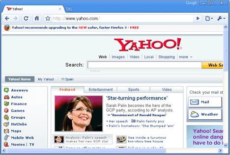A Yahoo no le gustan Internet Explorer ni Chrome