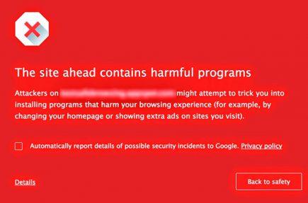 Chrome va a mostrarnos esta advertencia para evitar que descarguemos malware
