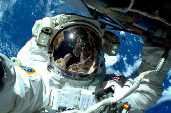 Selfie espacial de Barry Wilmore