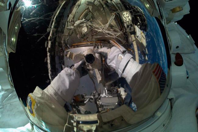 Selfie espacial de Terry Virts