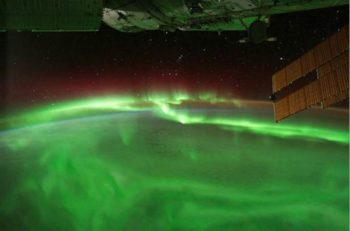 Fascinante aurora polar fotografiada desde la Estación Espacial Internacional