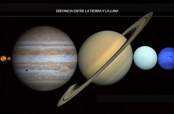 En la distancia que separa a la Tierra de la Luna cabrían todos los planetas del Sistema Solar