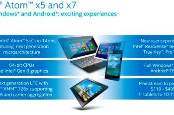 Intel desvela su gama de chips móviles Atom x3, x5 y x7