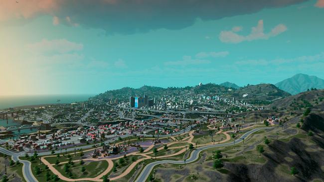 Recrean la ciudad de Los Santos en el videojuego Cities: Skylines