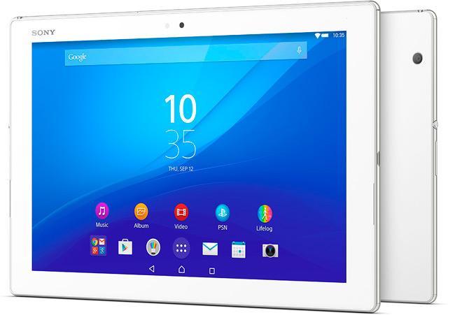 Sony Xperia Z4 Tablet, con pantalla de 10,1 pulgadas y resolución 2K