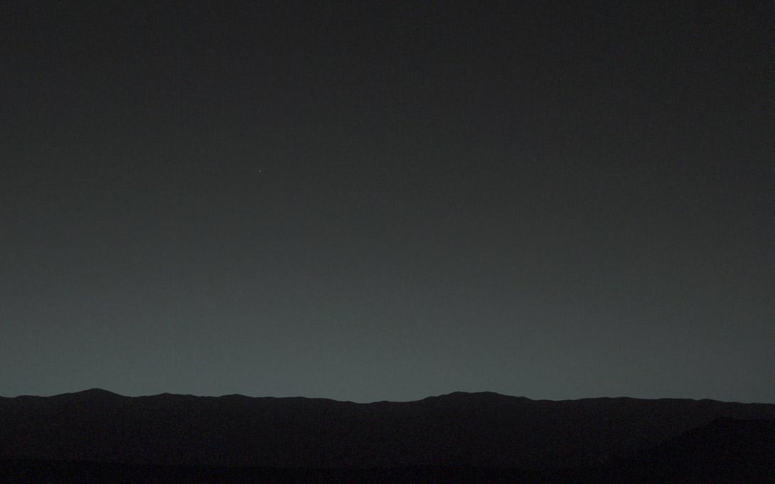 La Tierra vista desde Marte
