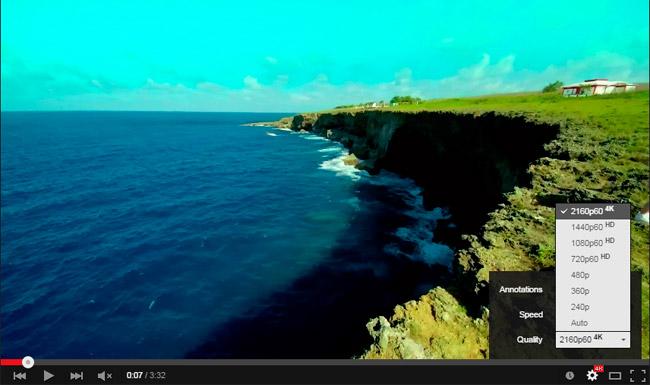 YouTube estrena soporte para vídeos 4K y 60 fotogramas por segundo