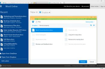 Microsoft Office Online permite ahora abrir, editar y guardar documentos en Dropbox