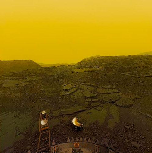 Este es el aspecto que tiene la superficie de Venus