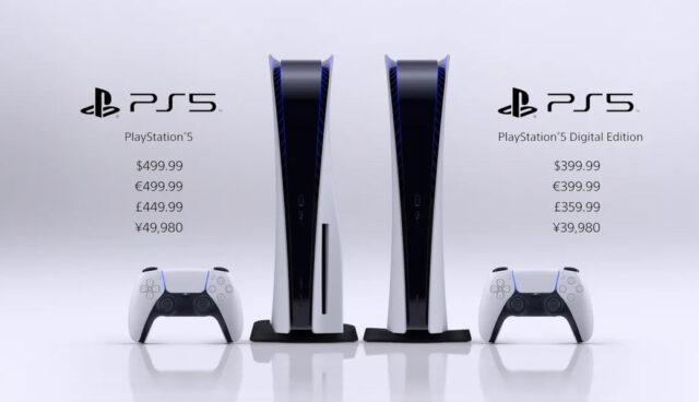La PS5 a la venta en noviembre por 399 € la Digital Edition y 499 € la versión con disco Blu-ray